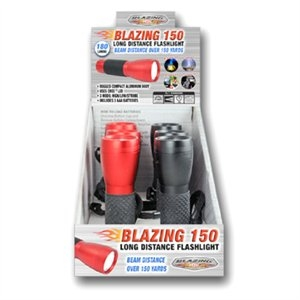 Image of Blazing Flashlight, Long Distance, Assorted Colors, 3 AAA Batteries, 180 Lumens