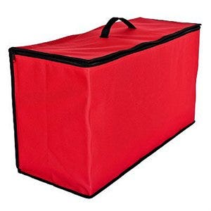 Ornament Storage Tub, Red, Large