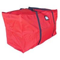 Holiday Storage Bag, Multi-Purpose, Red Polyester, Jumbo