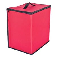 Ornament Storage Tub, Red, Holds 48