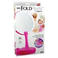 My Foldaway LED Mirror, Pink
