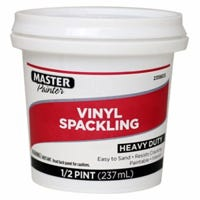 Vinyl Spackling Paste, 1/2-Pint