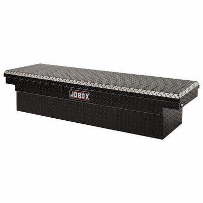 Crossover Truck Tool Box, Black Aluminum, 12-cu. Ft.