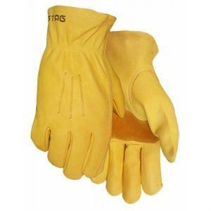 Fencing Work Gloves, Premium Gold Cowhide Leather, Men's M