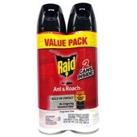 Raid Ant & Roach Killer, Fragrance-Free, 17.5-oz., 2-Pk.