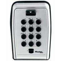 Lock Box, Push-Button, Portable, 3-7/8-In.