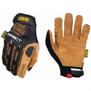 High-Performance Work Gloves, M-Pact, Black & Tan, Men's XL