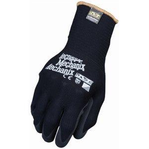 MicroFinish Nitrile-Dipped Work Gloves, Black, S/M
