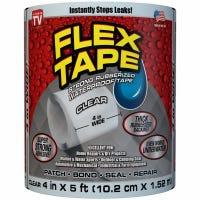 FLEX TAPE Waterproof Tape, Clear, 4-In. x 5-Ft.