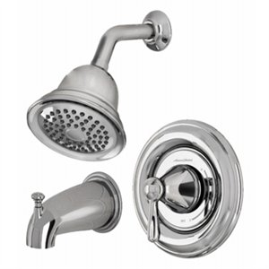 Image of Marquette Tub and Shower Faucet, Single-Handle Single-Spray, Polished Chrome