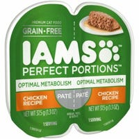Perfect Portions Cat Food Tray, Optimal Metabolism, Pate Chicken, 2.6-oz.