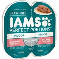 Perfect Portions Cat Food Tray, Indoor, Pate Salmon, 2.6-oz.