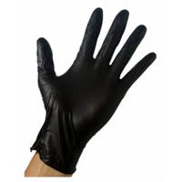 Nitrile Gloves, Disposable, Black, Men's L, 10-Ct.