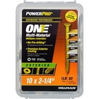 Power Pro One Screws, Flat Head, Bronze Epoxy Coated, #10 x 2-1/4-In., 86-Pk.