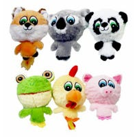 Dog Toy, Plush Knobby Noggins, Assorted, 4-In.