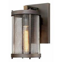 LED Wall Light Fixture, Oil-Rubbed Bronze, Clear Glass