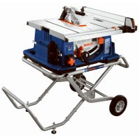 Worksite Table Saw With Gravity Rise Wheeled Stand, 4-HP, 10-In.