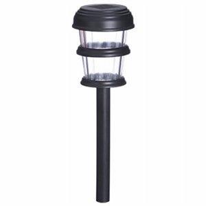 3-Tier Solar Path Light, Black Plastic