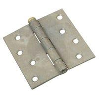 Loose Pin Hinge, Galvanized, 4 x 4-In.
