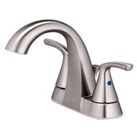 Centerset Lavatory Faucet With Pop-Up, 2 Lever Handles, Brushed Nickel