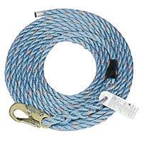 Vertical Lifeline, Polysteel Rope, 5/8-In. x 50-Ft.
