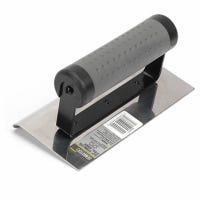 Concrete Edger, Heavy-Duty Stainless Steel, 6 x 3-3/8 x 1/2-In.