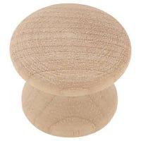 Wood Cabinet Knob, 1-In. Round