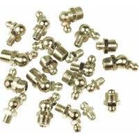 Grease Fitting, 45 & 90-Degree, 1/4-In. x 28, 10-Pk.