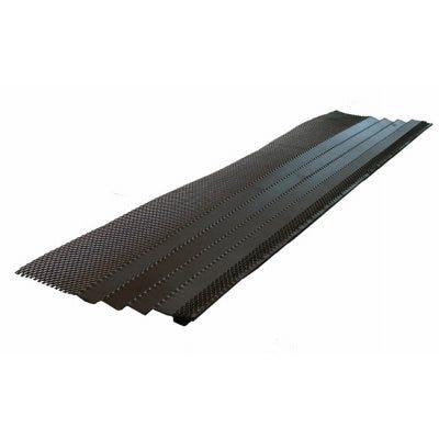 Hoover Dam K-Style Gutter Guard, Black Steel, 3-Ft.