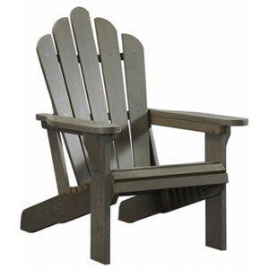 Adirondack Chair, All-Weather Polystyrene,Gray