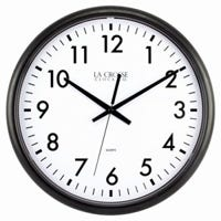 Commercial Wall Clock, Quartz, Thin Black Case, 13.5-In.