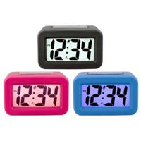Silicon Skin LCD Digital Alarm Clock, Assorted Colors