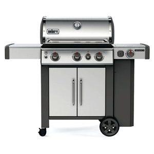 Genesis II S-335 3-Burner LP Gas Grill, 39,000-BTUs + Side & Sear Burners, Stainless Steel