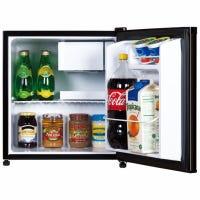 Compact Refrigerator, Black, 1.7-Cu. Ft.