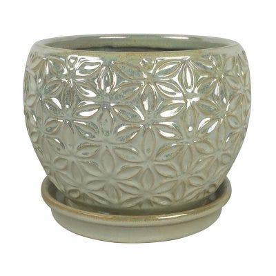 Elora Planter, Pear-Color Ceramic, 8-In.