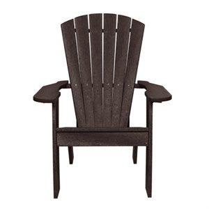 Captiva Contoured Adirondack Chair, Recycled Plastic, Espresso