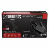 Nitrile Industrial Work Gloves, Powder-Free, Black, Small, 100-Ct.