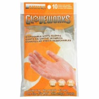 Disposable Work Gloves, Vinyl, One Size, 10-Ct.
