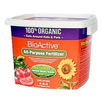 Bioactive Organic Fertilizer, 4-6-4 Formula, 2-Qts.