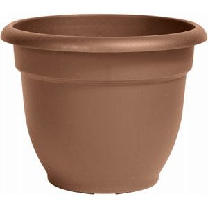 Ariana Planter, Plastic, Self-Watering, Bell Shape, Chocolate, 6-In.