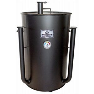 Drum Smoker, Flat Black, 55-Gallons