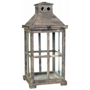 Image of Temple Garden Candle Lantern, Antique Finish, Small