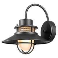 Liam Collection Outdoor Wall Lantern, Matte Black
