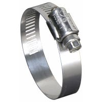Hose Clamp, Marine Grade, Stainless Steel, .5 x 1-1/16-In.