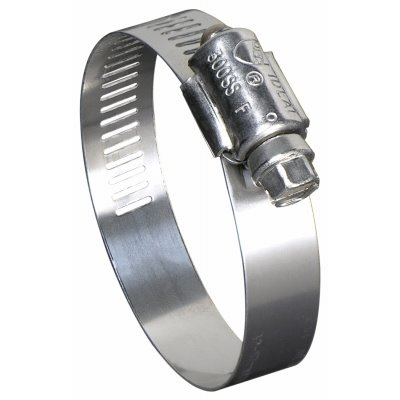 Image of Hose Clamp, Marine Grade, 300 Stainless Steel, 1 x 3-In.