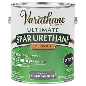 Premium Exterior Spar Urethane, Oil-Based, Semi-Gloss, 1-Gallon