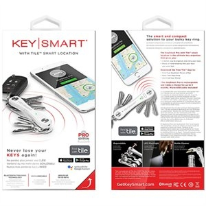 Image of Pro Compact Key Holder With Tile Smart Location, White