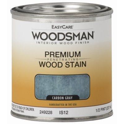 Woodsman Interior Stain, Oil Base, Carbon Gray, 1/2-Pt.