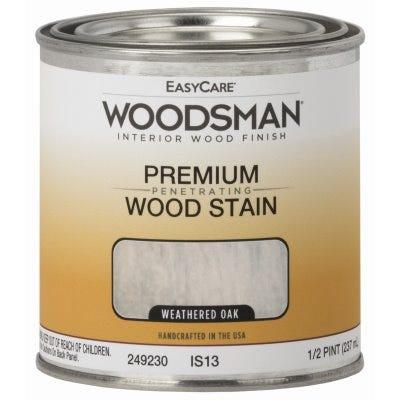 Woodsman Interior Stain, Oil Base, Weathered Oak, 1/2-Pt.