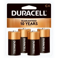 Alkaline Batteries, C, 4-Pk.